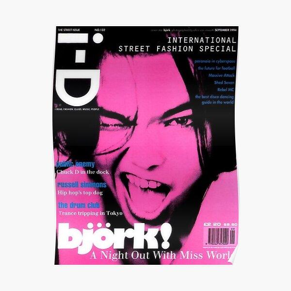bjork pink y2k aesthetic Poster