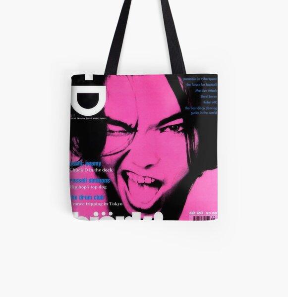 bjork rosa y2k estética Bolsa estampada de tela