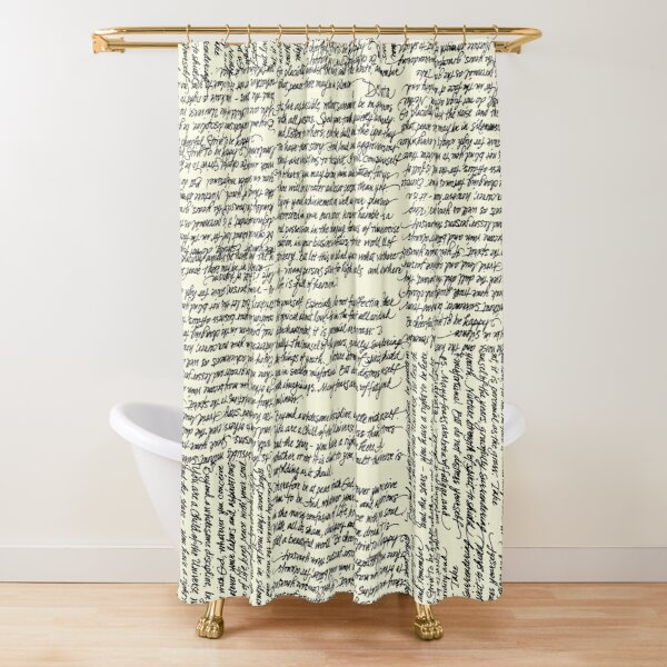 Desiderata handwritten Shower Curtain