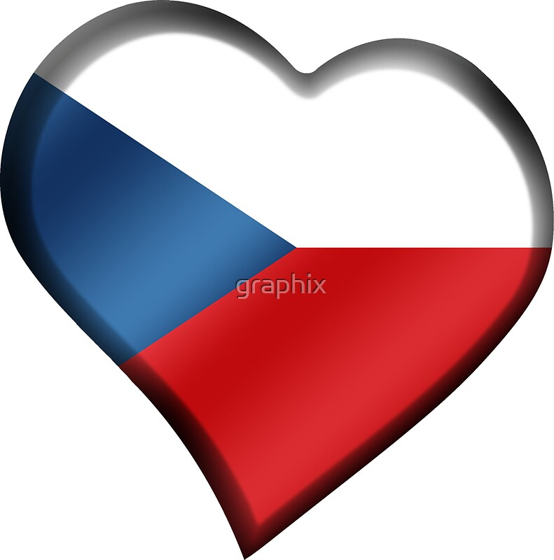 Czech flag czech republic heart by graphix