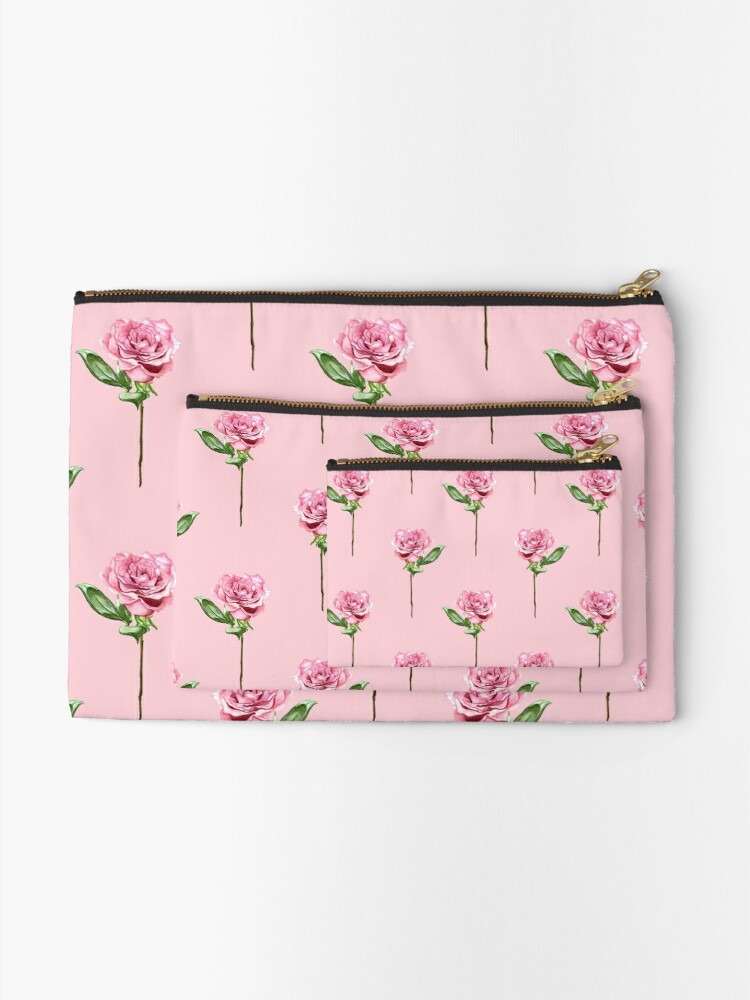 Alternate view of A Rose From My Beloved - Pink Zipper Pouch