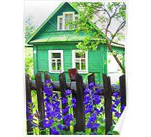 Meadow Green Dacha at Kartashevskaya Poster