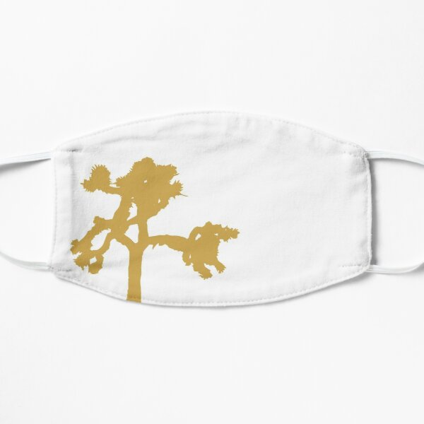 U2 - Joshua Tree silueta en blanco Mascarilla plana