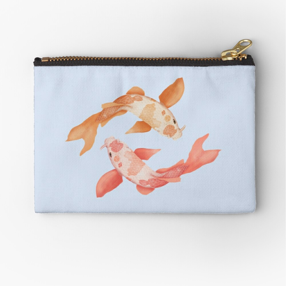 Two Coy Fish Zipper Pouch
