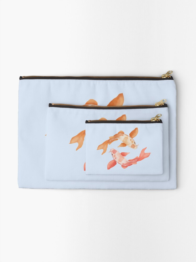 Alternate view of Two Coy Fish Zipper Pouch