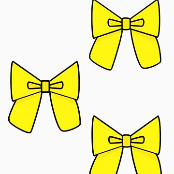 Yellow Bows to cover any holes..... by claujo206