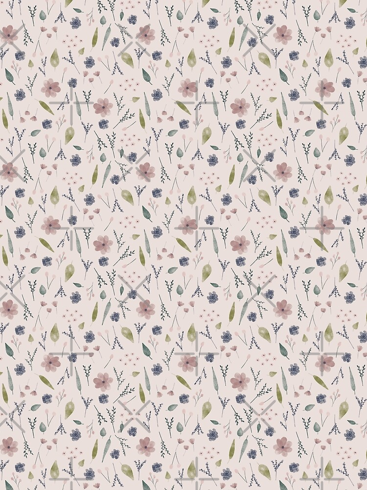 Watercolour Ditsy Floral by kmg-design