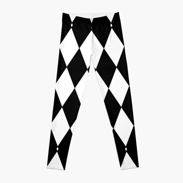 Black and White harlequin pattern  Leggings