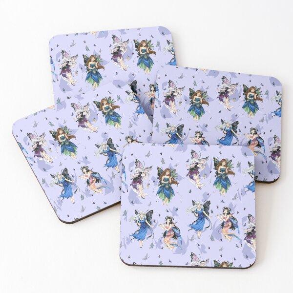 Little dancing anime fairies Coasters (Set of 4)