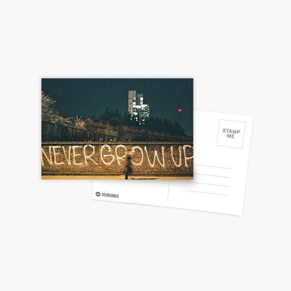 Never Grow Up Postcard