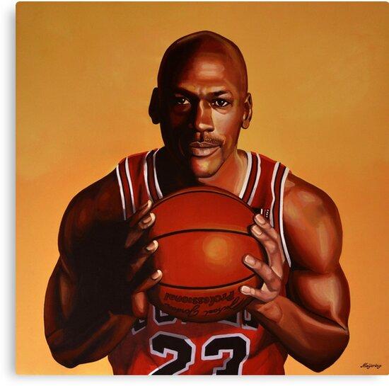 Michael Jordan painting 2 by PaulMeijering