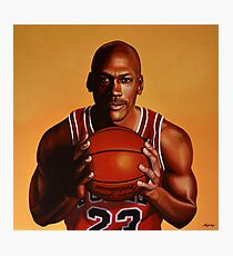 Michael Jordan painting 2 Photographic Print