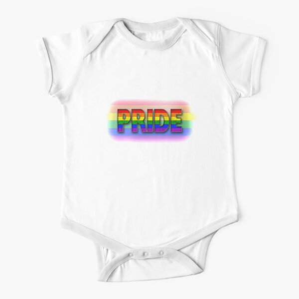 Rainbow PRIDE - Rainbow Short Sleeve Baby One-Piece