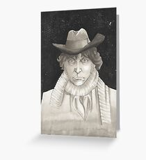 The 4th Doctor Tom Baker Greeting Card