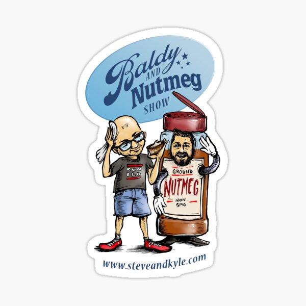 Baldy and Nutmeg Sticker