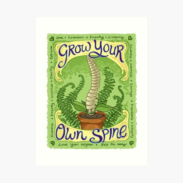 Grow Your Own Spine Art Print