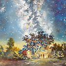 Starry night camping by Joe Trodden