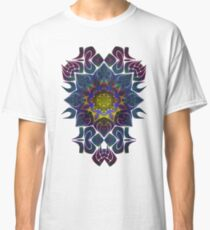 Psychedelic Fractal Manipulation Pattern on White Classic T-Shirt