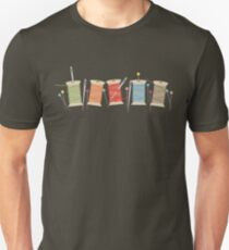 Colorful spools of thread pins needles sewing Unisex T-Shirt