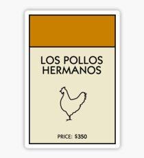 Los Pollos Hermanos Monopoly (Breaking Bad) Sticker