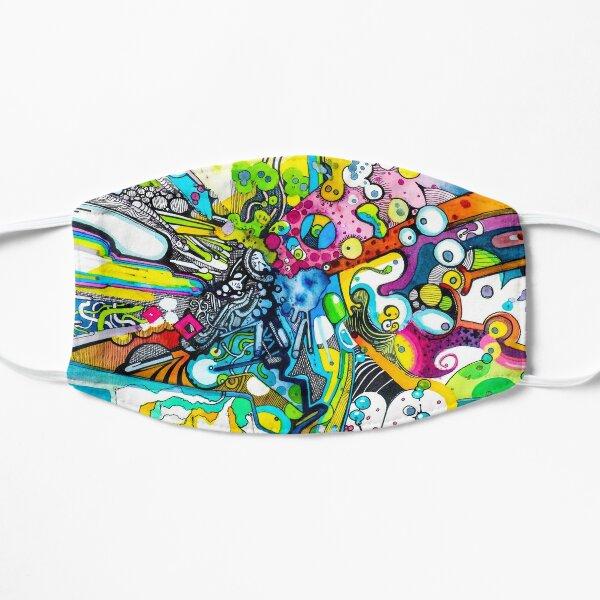 Tubes of Wonder - Abstract Watercolor + Pen Illustration Flat Mask