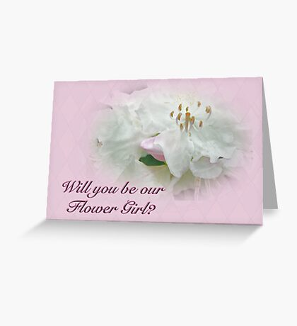 Flower Girl Request - White Azalea Greeting Card