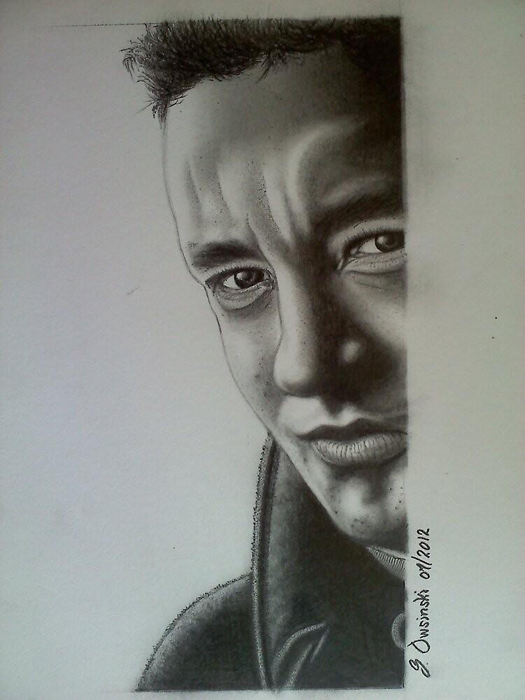 "Actor ""Tom Hanks"" photorealistic pencil portrait by ttpd618"