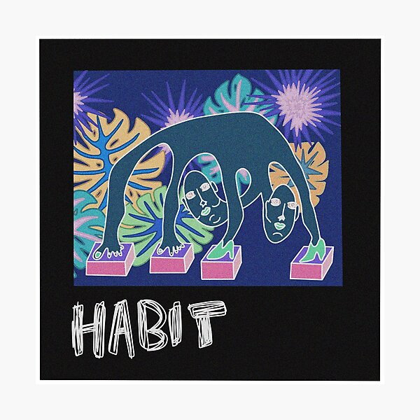 Still Woozy album cover doodle Photographic Print