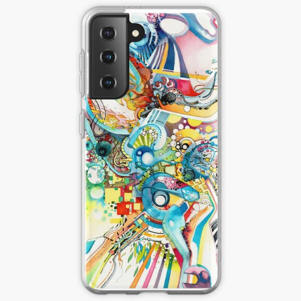 Unlimited Curiosity - Watercolor and Felt Pen Samsung Galaxy Soft Case