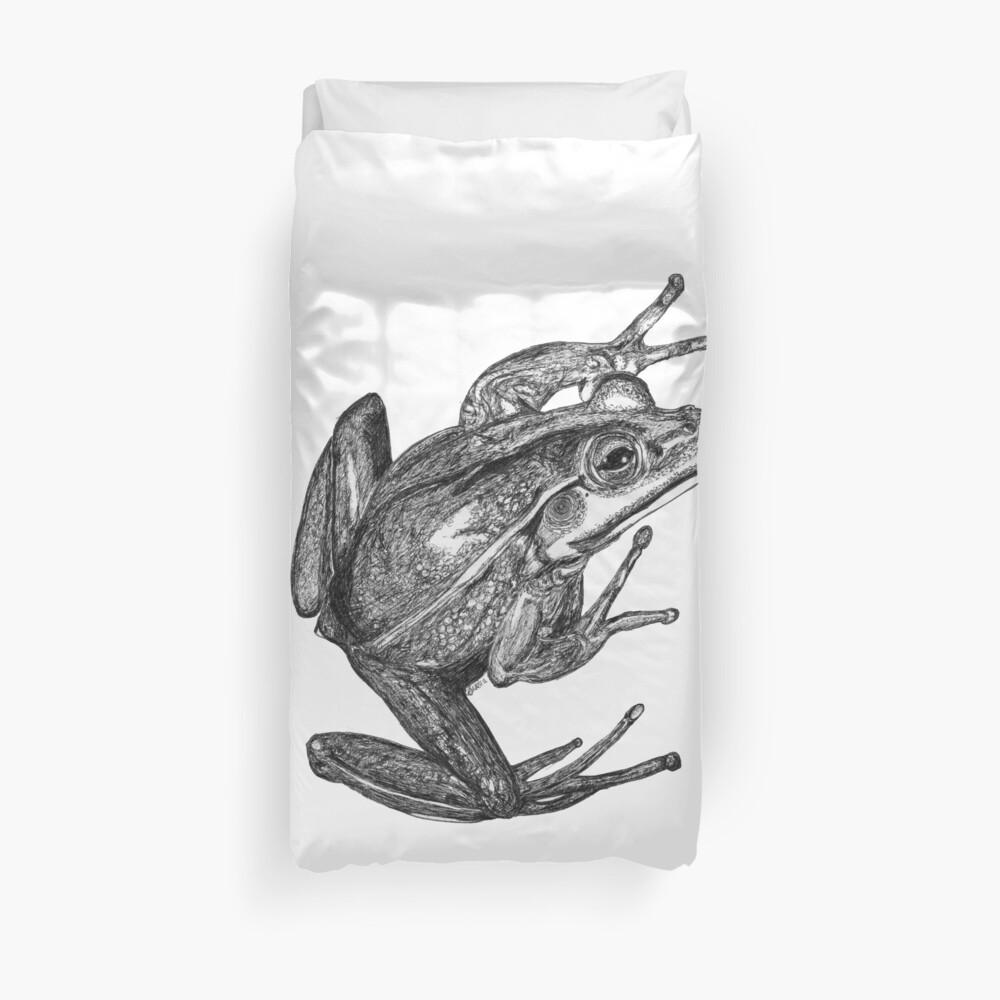 Vonny the Frog Duvet Cover