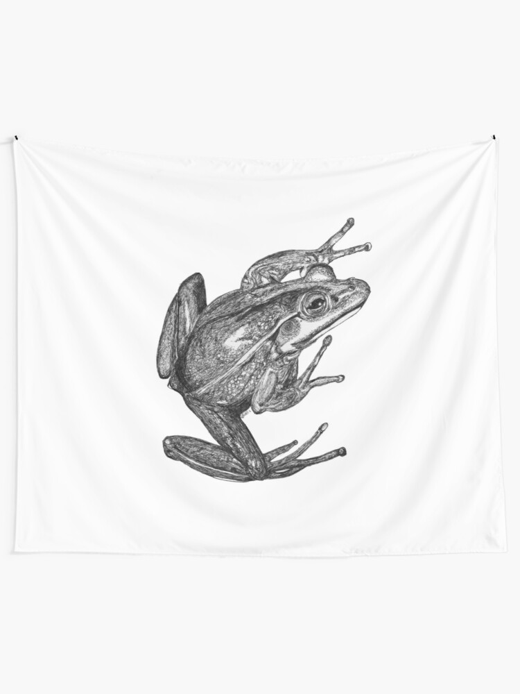 Alternate view of Vonny the Frog Tapestry