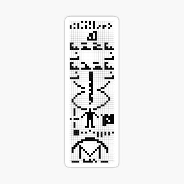 Arecibo Message 001 Sticker