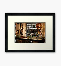 Shoppers Framed Print