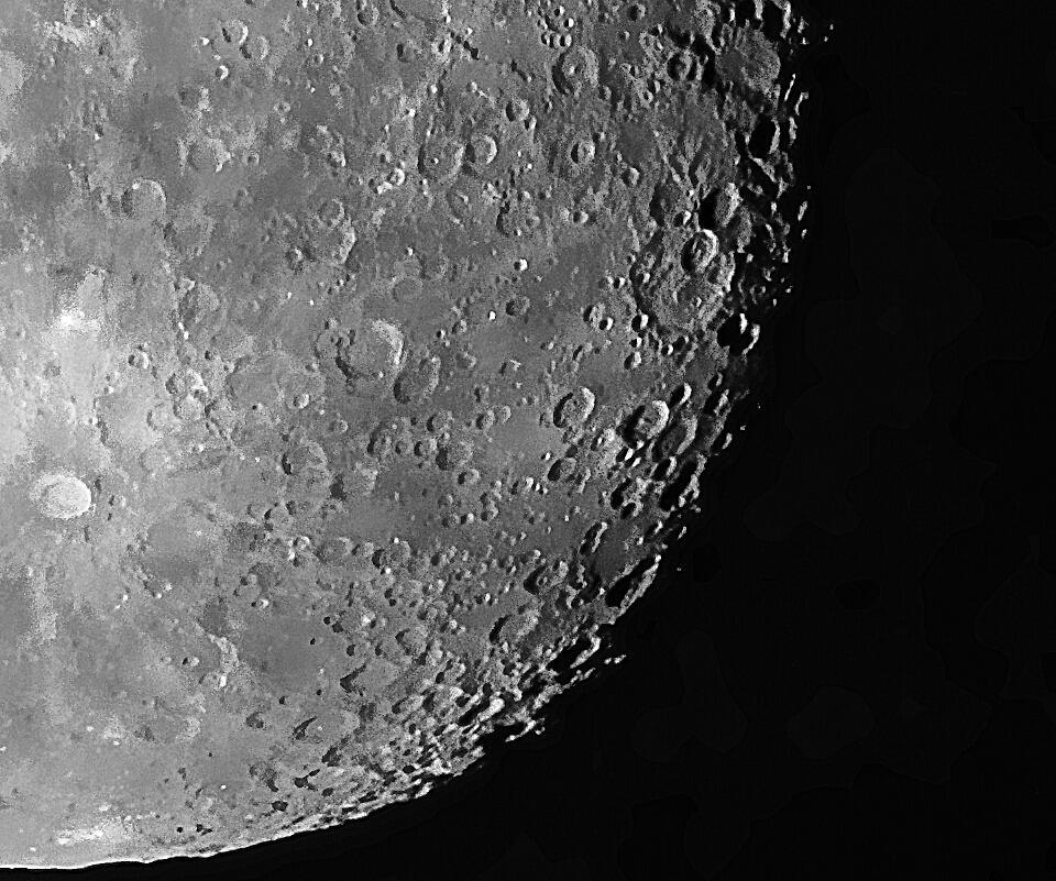Moon Close up, Waning Gibbous by Bill  Watson