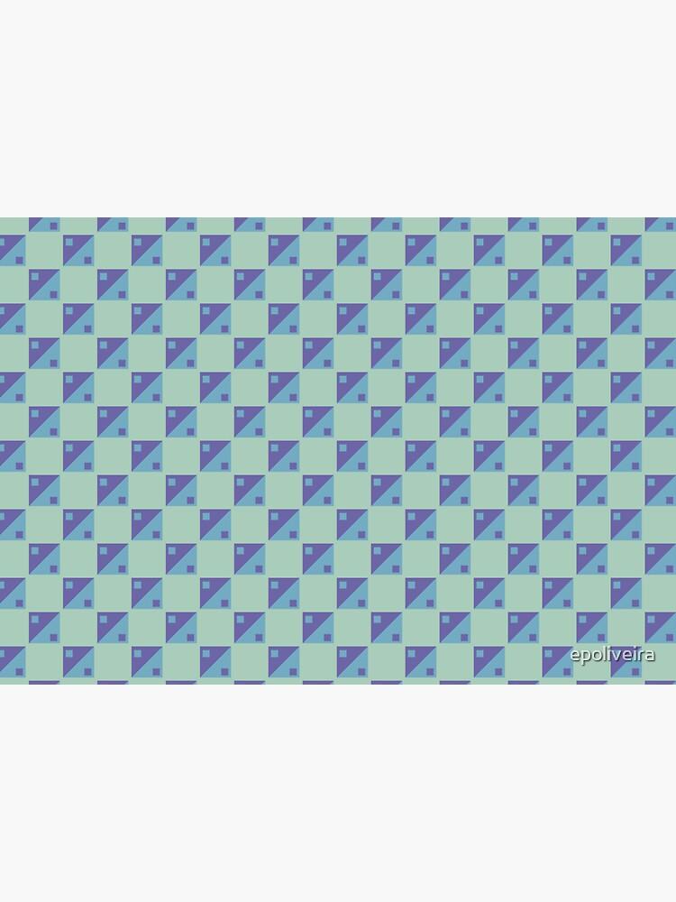 square ying yang blue geometric pattern by epoliveira