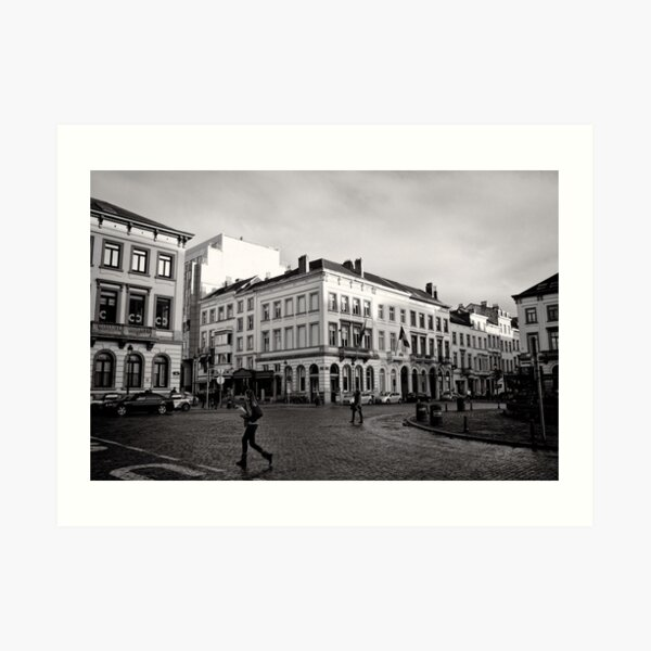 Crossing Luxembourg Square - Brussels Art Print