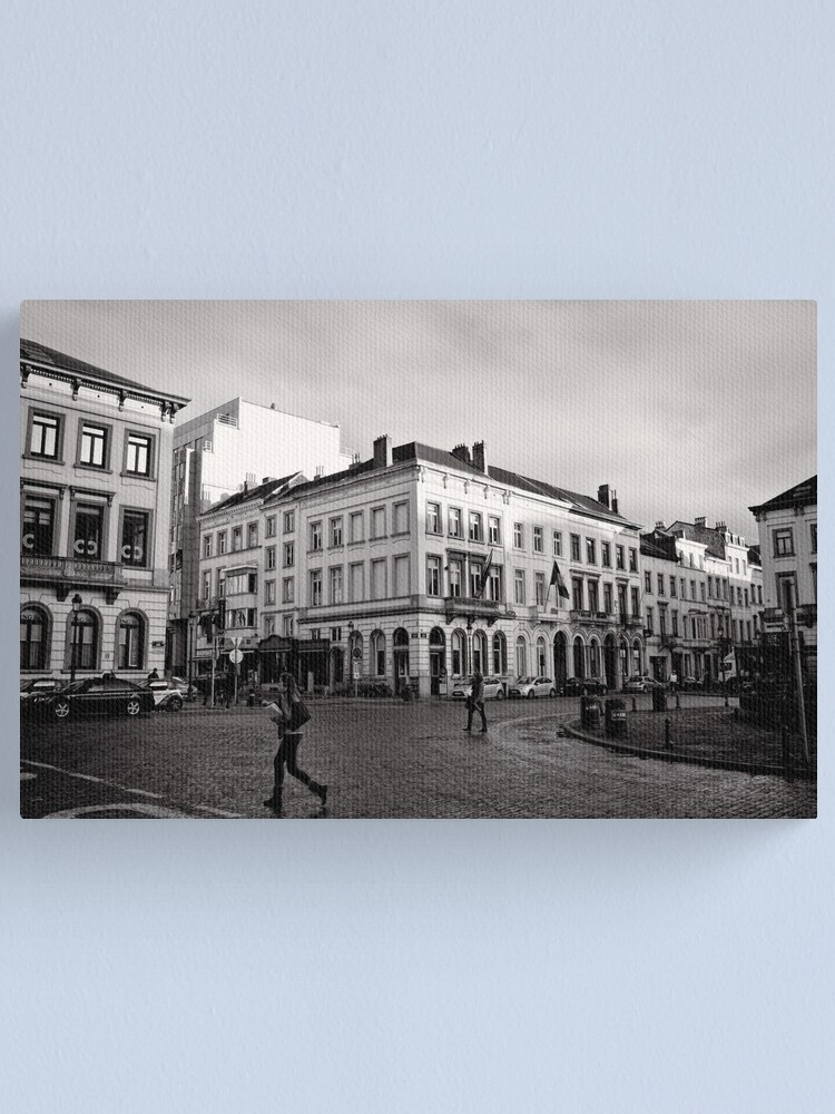 Alternate view of Crossing Luxembourg Square - Brussels Canvas Print