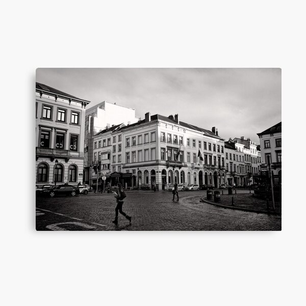 Crossing Luxembourg Square - Brussels Canvas Print