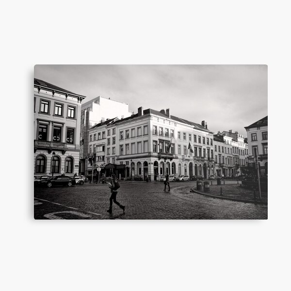 Crossing Luxembourg Square - Brussels Metal Print