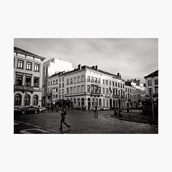 Crossing Luxembourg Square - Brussels Photographic Print