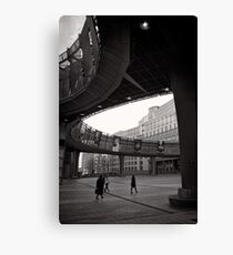 Crossing paths at Parliament - Brussels Canvas Print