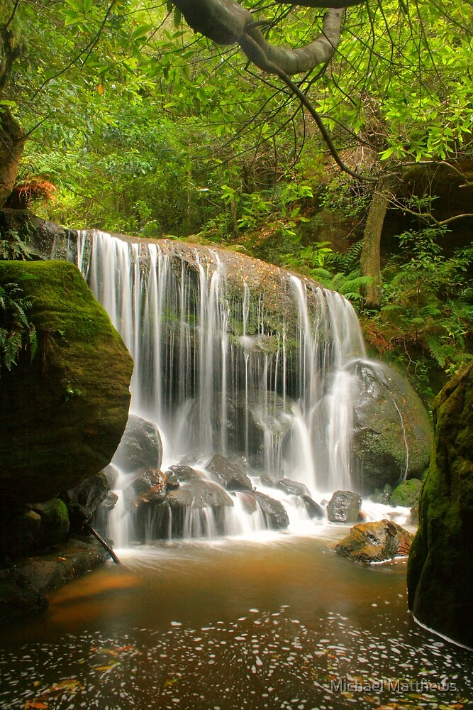 Blue Mountains waterfall by Michael Matthews