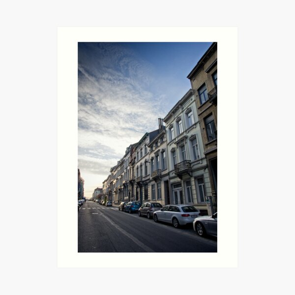 Dawn of a new day - Brussles Art Print