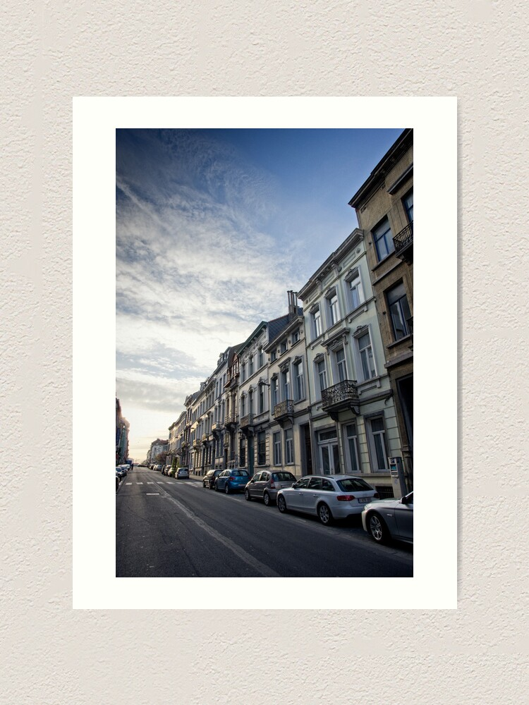 Alternate view of Dawn of a new day - Brussles Art Print