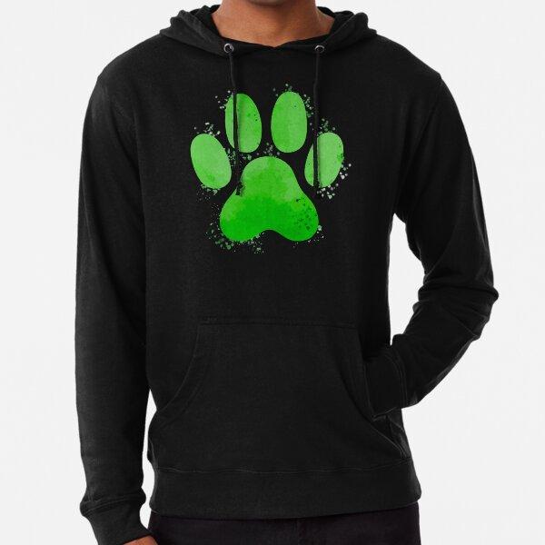 Chat Noir Pawprint Sweat à capuche léger