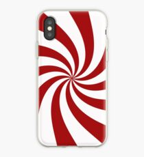 Red and White Peppermint Swirl  iPhone-Hülle & Cover