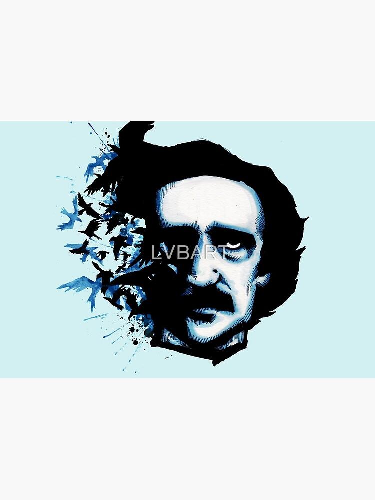 Edgar Allan Poe Crows by LVBART