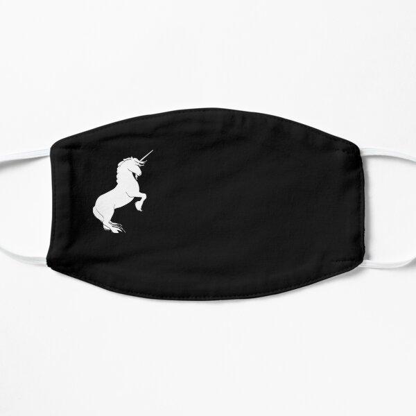 unicorn funny face  Flat Mask