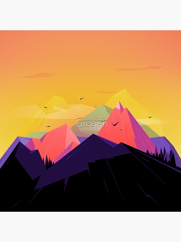 Oh the mountains by Greyish