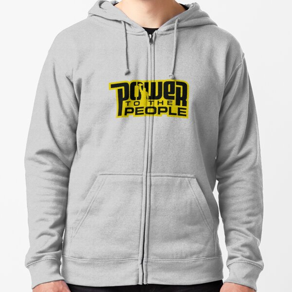 Power To The People - GOLD Zipped Hoodie